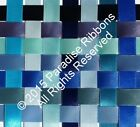 10 METRES Berisfords Double Satin Ribbon 14 BLUE SHADES Choose Width + Shade