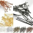 30g About 100-500x Plated Silver Gold Eye Pin Head Pin Ball Pin 21 Gauge 14-70mm