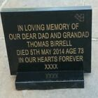 Engraved memorial plaque grave stone headstone grave personalised stone black