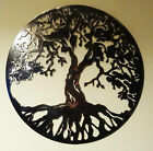 "Solid Steel Metal hand finished ""Tree of life"" wall art work raw mild steel"