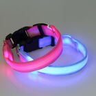 LED Light up Dog Pet Night Safety Collar Lighting Evenly Flashing Nylon Collars