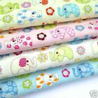 PER FQ or 1/2 metre NELLIE  Elephant childrens/nursery 100 % cotton fabric
