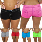 New Womens Denim Short Print Boxer Shorts Underwear Ladies Knickers Size S M XL