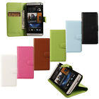 FL Flip Leather Wallet Card Holder Stand Case Cover for HTC One M7 + Gifts