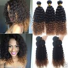 Hot Sale!!! Ombre Hair Extensions Curly 100% Brazilian Human Hair 1B/30#,50g/pc,