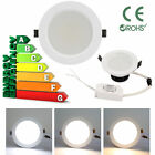 5W 9W 15W Dimmable Bright CREE LED Recessed Ceiling Panel DownLight 3 Color Lamp