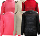 Sweater Women Crochet Knitted Studded Plus Size US 9-23 W59 New