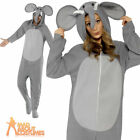 Adult Elephant Onesie Costume Zoo Animal Fancy Dress Unisex Funny Outfit New