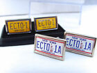 GHOSTBUSTERS ECTO 1A ECTO-1 CAR NUMBER PLATE BADGE MENS CUFFLINKS PIN GIFT