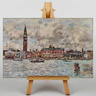 LARGE WALL ART 30x20 Inch - Eugene Boudin - San Marco Square in Venice