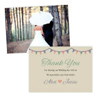 Personalised wedding thank you cards PASTEL BUNTING VINTAGE FREE ENVELOPES & DRA