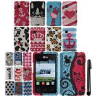 For LG 840G Full DIAMOND BLING HARD Protector Case Cover Phone Accessory + Pen