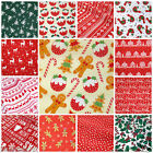Per metre CHRISMAS FABRICS inc gingerbread spots stripes polycotton 112cm wide