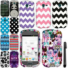 For Samsung Galaxy Exhibit T599 PATTERN HARD Protector Case Cover Phone + Pen