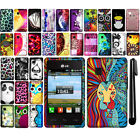 For LG 840G Rubberized PATTERN HARD Protector Case Phone Cover Accessory + Pen