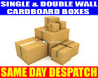 NEW SINGLE & DOUBLE WALL POSTAL SHIPPING REMOVAL STORAGE CARDBOARD BOXES