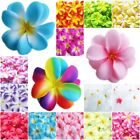Внешний вид - 30 100 HAWAIIAN PLUMERIA FRANGIPANI ARTIFICIAL SILK FLOWER HEAD DECOR  WEDDING