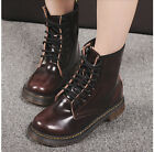Womens Punk Lace Up Motorcycle Military Biker Combat Riding Ankle Boots Shoes