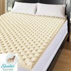 Slumber Solutions 3 or 4 Inch Memory Foam Mattress Topper Pad 3 Pound Density
