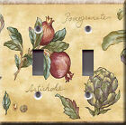 Light Switch Plate Cover - Artichoke pomegranate tree - Vegetable kitchen deco