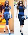 Victoria Beckham Turquoise Pencil wiggle party office work dress. High quality!
