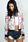 Boohoo Womens Ladies Cleo Floral Airtex Perforated Design Bomber Jacket