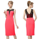 Ever Pretty Sexy Lace Coral Short Pencil Party Casaul Business Wear Dress 05054