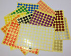 13mm 25mm 50mm Round Colour Code Circles Dots Spots Stickers Sticky Label