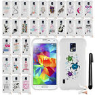 For Samsung Galaxy S5 Active G870A Art Design TPU SILICONE Skin Case Cover + Pen