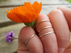 Set of Three 1mm Sterling Silver Above Knuckle Finger Rings