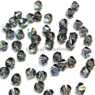 5mm Black Diamond AB (215 AB) Swarovski Crystal 5328 / 5301 Bicone Beads
