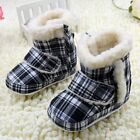 Baby boots girls Plaid Snow winter Soft bottom Shoes Suit for 3-6 6-9 9-12Mths