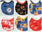 Handmade Newborn Bibs made with NHL fabric (Pick two for $10.00)