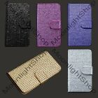 Samsung Galaxy S5 V Hybrid Flip Cover Pouch Diamond Bling Card Wallet Case Cover
