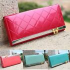 Womens Fashion Clutch Leather Long Handbag Lady's Bowknot Wallet Coin Purse