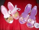DISNEY STORE PRINCESSES HALLOWEEN DRESS UP SHOES. BELL ,RAPUNZEL,NEW WITH TAGS