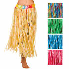 Hula Grass Skirt 80cm Artificial Flowers Hawaiian Fancy Dress Costume Accessory