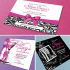 100 Personalised Birthday Invitations ★ Party Invites With Envelopes
