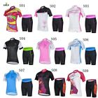 2014  Women Cycling Jersey  Shorts Sets Ropa De Ciclismo Roupas Fitness