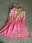 Juicy Couture Pink & Yellow Stripe Sleeveless Sun Dress