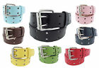BB ACCESSORIES Kids Boy Girl Unisex 2-Hole BONDED LEATHER Belt Many Colors Sizes