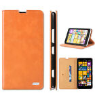 Luxury Leather card wallet flip stand case cover skin for Nokia Lumia 1320