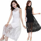 Girls 2 in 1 Long Lace & Chiffon Dress Age 12 - 15 -- BNWT