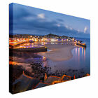 Dusk overlooking St Ives Harbour Cornwall Canvas Art Cheap Wall Print Any Size