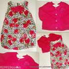 NWT TCP LOT GIRLS 3 3T & 4 4T BUBBLE FLORAL DRESS PINK CARDIGAN SET OUTFIT NEW