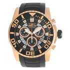 INVICTA 14675 Pro Driver Rose Gold Black Dial Black Polyurethane Band Men Watch