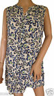NEW Ex GEORGE Butterfly Tunic Top Cream Green Blue Summer Size 14 16 18 20 22