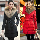 Winter Warm Slim Fit Basic Tunic Long Coats Double-Breasted Button Puffer Parka