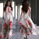 HOT SEXY SLEEVELESS SUMMER LADIES CHIFFON LONG DRESS EVENING COCKTAIL PARTY TOP