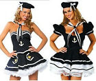 Sexy Womens Sailor Fancy Dress Costume Outfit Uniform Lingerie Hen Party 8-18